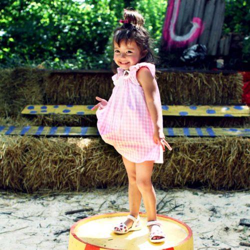VK902 Gingham Play Dress Circus
