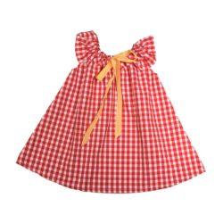VK902 Gingham Play Dress Red