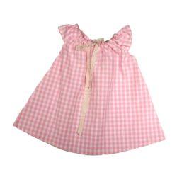 VK902 Gingham Play Dress Pink