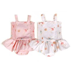 VK209 Pink White Playsuit