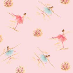 Vintage Kit Pretty Ballerina Print Pink
