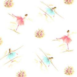 Vintage Kit Ballerina Print White