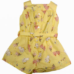 Yellow Dumbo Print Playsuit Back