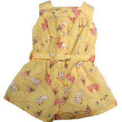 Vintage Playsuit in yellow with dumbo print
