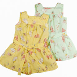 Dumbo Print Playsuit Colours