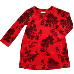 VK236a winter rose velour dress