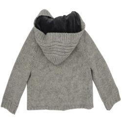 Warm woollen knit cardigan.