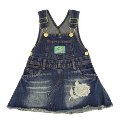 Skirt and bib in denim