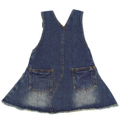 Back of denim and bib