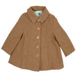 camel wool coat front