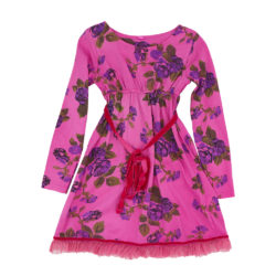 Tie dyed winter rose dress pink front