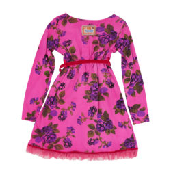 Tie dyed winter rose dress pink