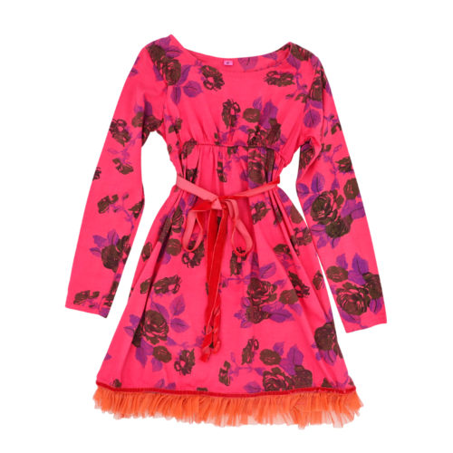 Tie dyed winter rose dress