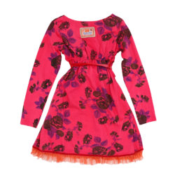 Tie dyed winter rose dress back