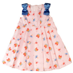 shoe and tiny dancer print dress with satin bows