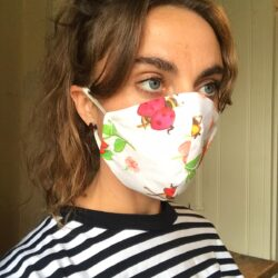 Gorgeous bug print mask